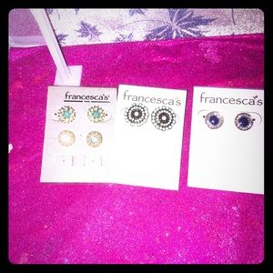 Francesca's earring trio